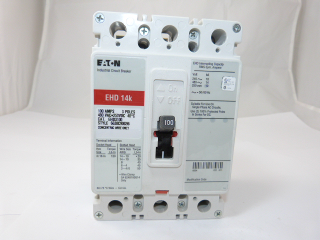 Cutler Hammer EHD3100L  Circuit Breaker