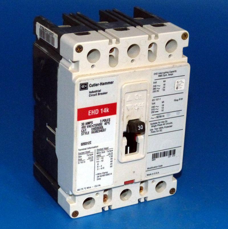 Cutler Hammer EHD3030L  Circuit Breaker