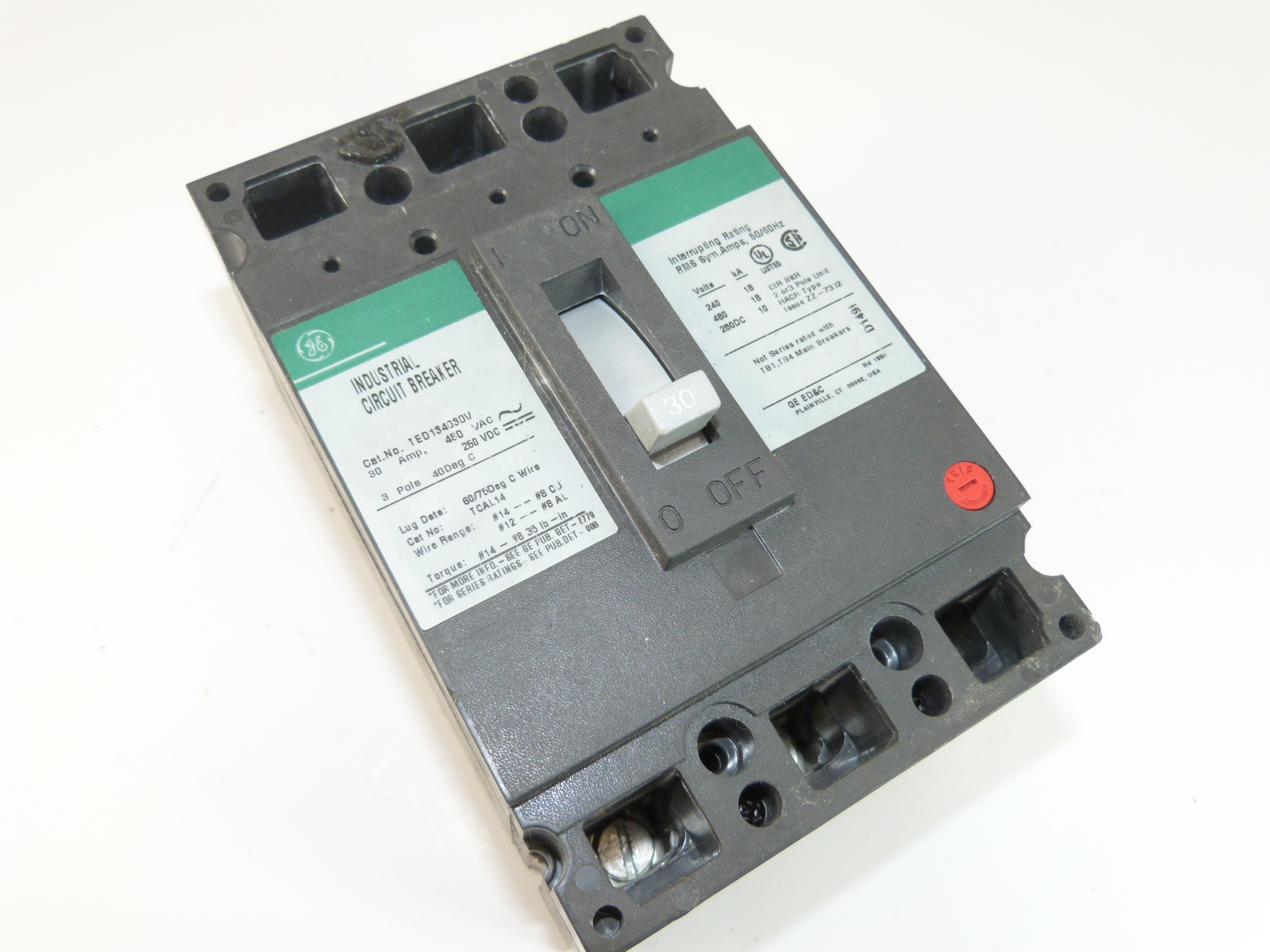 General Electric TED134030WL  Circuit Breaker