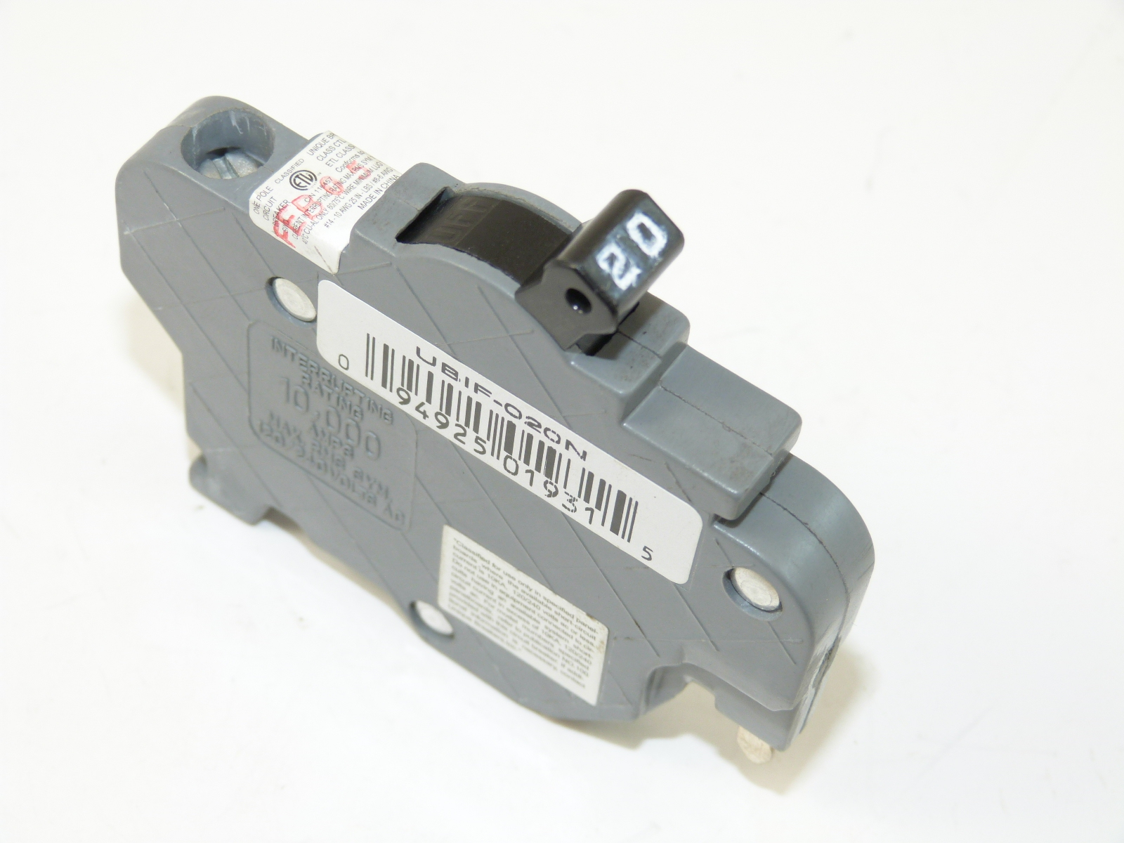 Connecticut Electric Inc. UBIF020N  Circuit Breaker