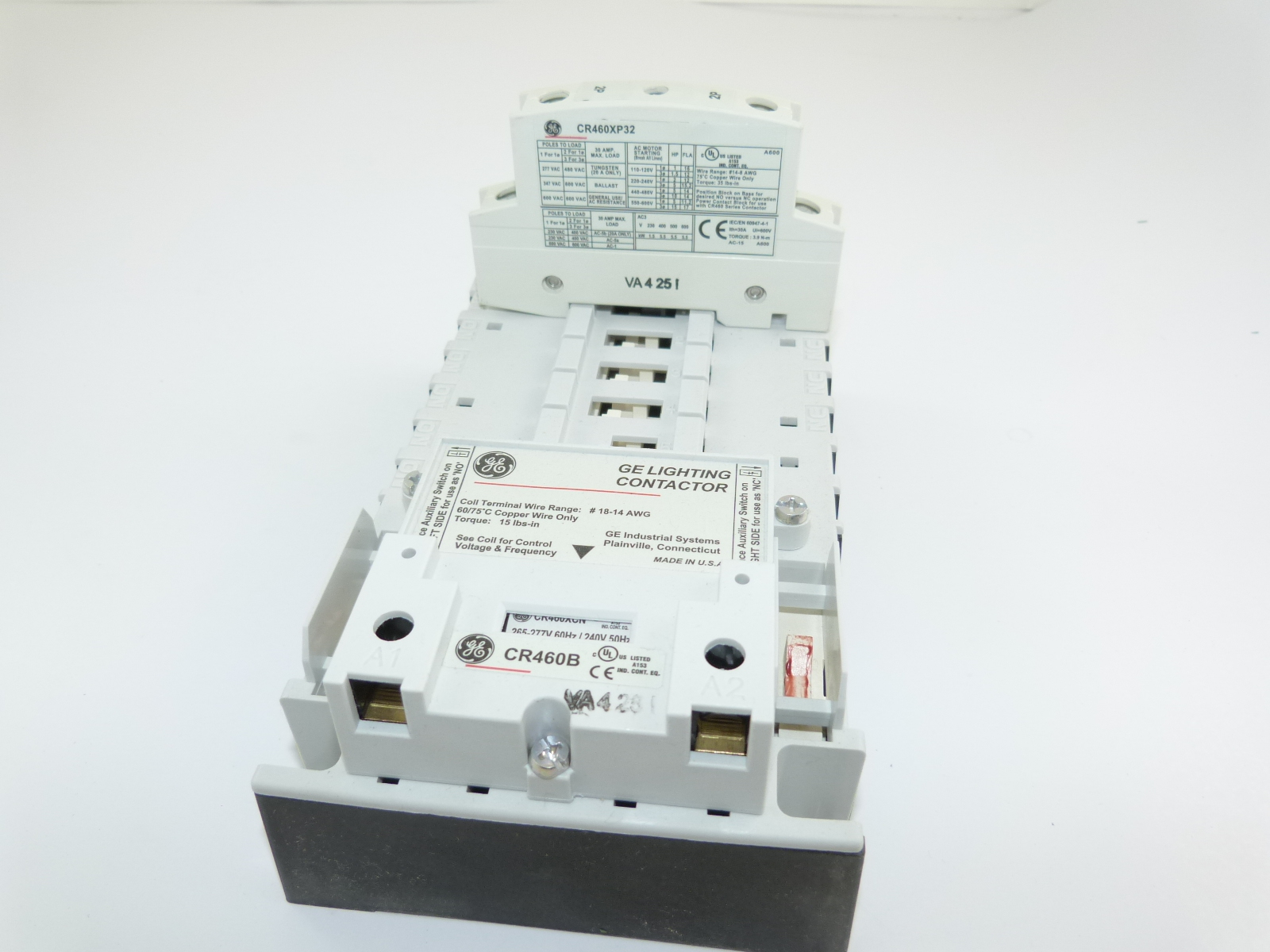CR463L20ANA General Electric Lighting Contactor New Used And Obsolete